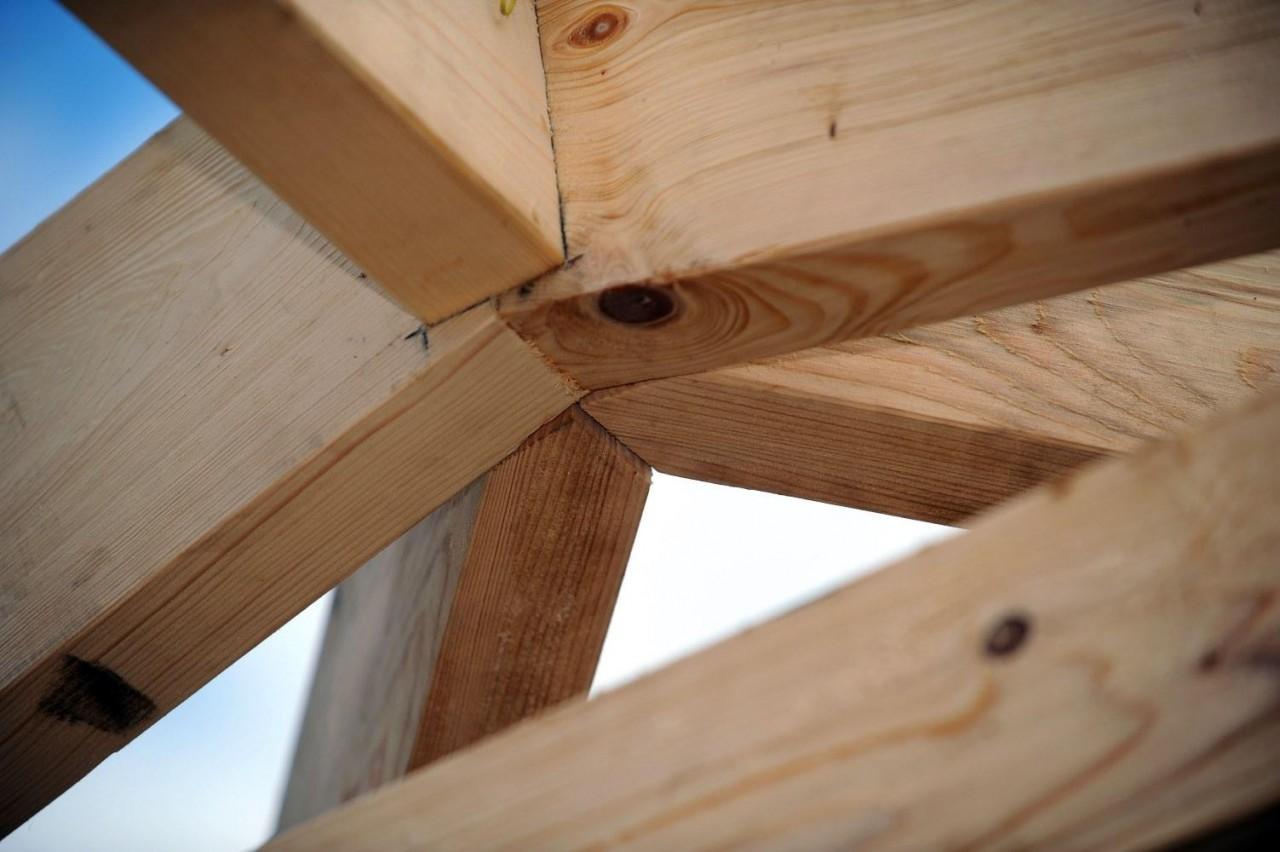 как сделать деревянную беседку своими руками, крыша