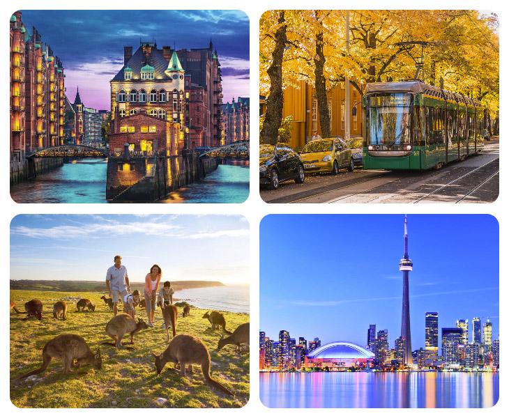 Новый рейтинг 10 лучших городов мира для проживания