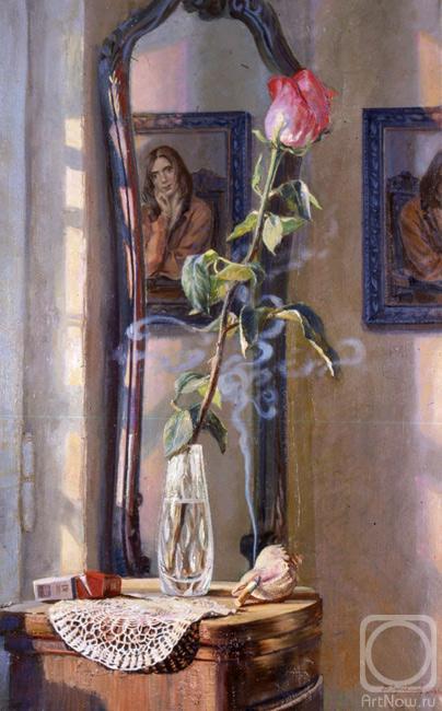 Лукьянов Виктор. Натюрморт с розой