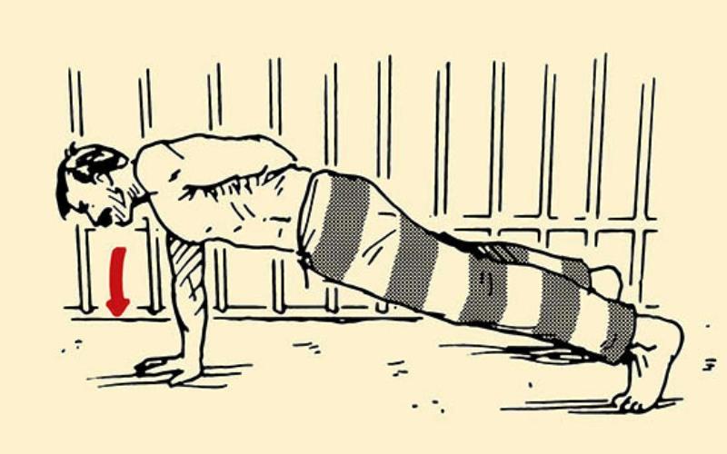 Тренировка в тюрьме: лучшие упражнения для ограниченного пространства на зоне