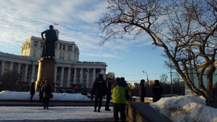 19 марта прошел митинг сторонников Грудинина