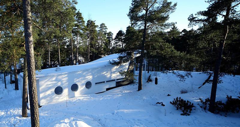 Дом из дерева в финском лесу