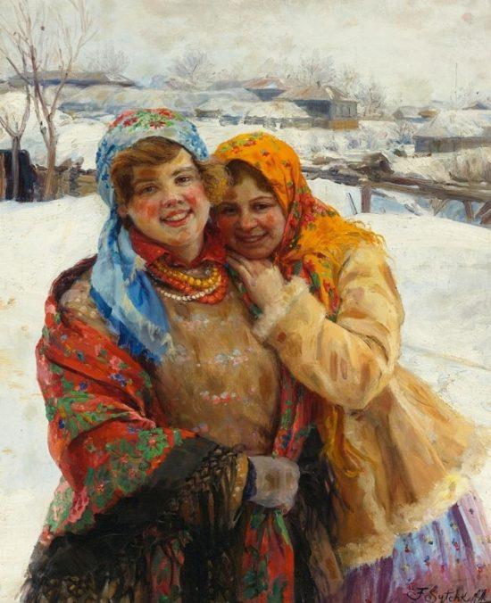 Прекрасные и простые русские женщины кисти Федота Сычкова (1870 - 1958)