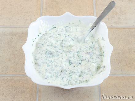 Картофель «Решти» с селедочным соусом — 9 шаг