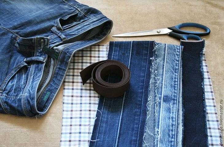 Строительный пояс своими руками из джинса 21
