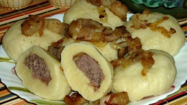 Украинские галушки с мясом