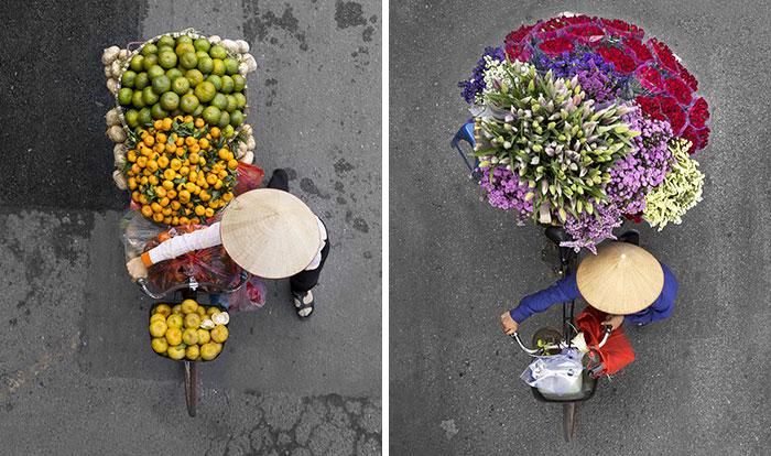 Вид сверху: фотограф целые дни проводила на мосту и снимала уличных торговцев