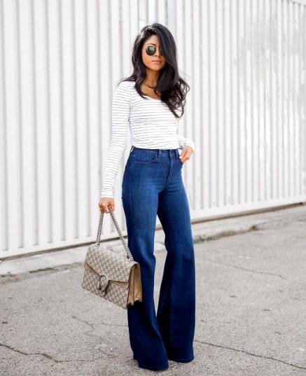 Идеальная пара джинсовых брюк: 20 свежих идей которые подчеркнут вашу фигуру