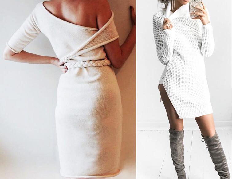 Стань самой модной этой зимой! Теплые и уютные платья-туники — 20 образов