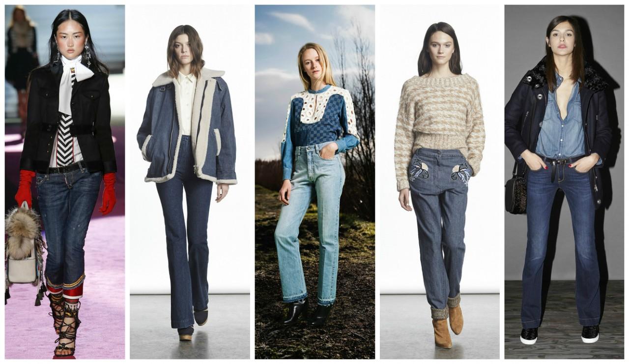 Модные тренды 2015 в джинсах - фото