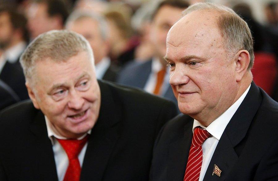 """Видео: Жириновский и Зюганов разнесли Правительство """"Димона""""."""