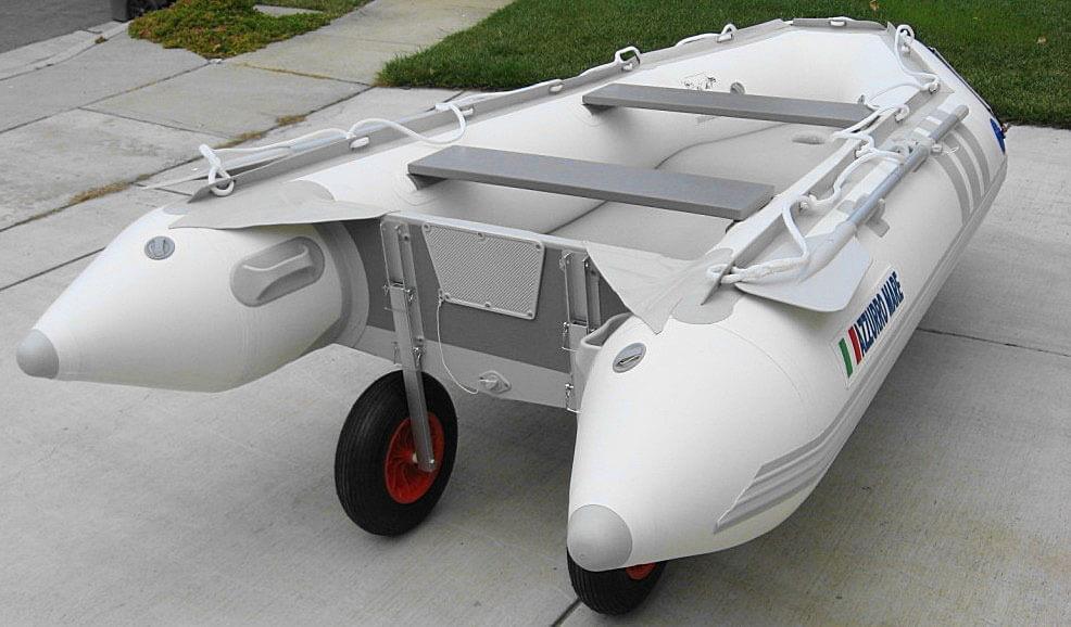 лодки с транспортными колесами