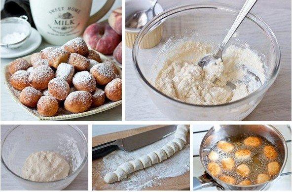 Пончики из творога в масле рецепт с фото пошагово