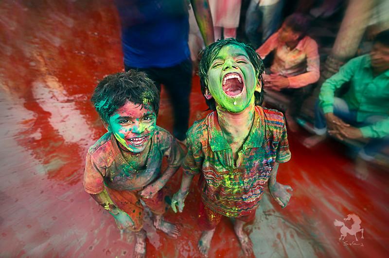 Крик радости - фестиваль Холи, Барсана, Индия индия, красота, талант, творчество, фото, фотограф, фотография, художник