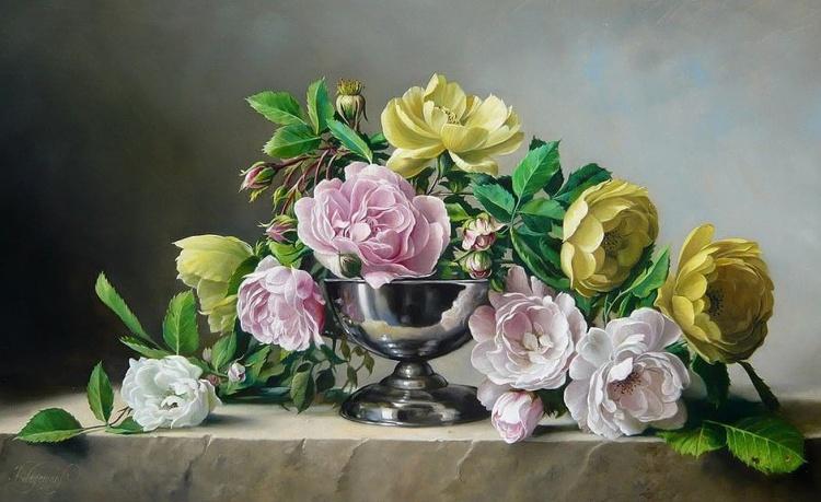 Художник Pieter Wagemans. Я предпочитаю розы