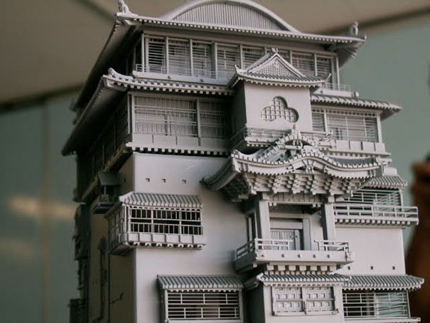 Incredibly Detailed Model Of The Bath House From Miyazaki's Spirited Away