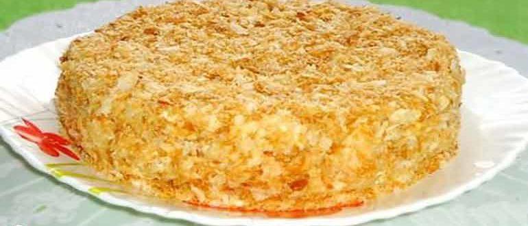 Рыбный пирог из коржей для наполеона: простой и быстрый рецепт