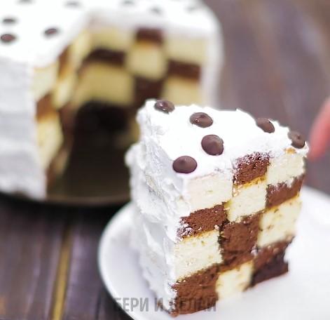 Как сделать торт с шахматной прослойкой