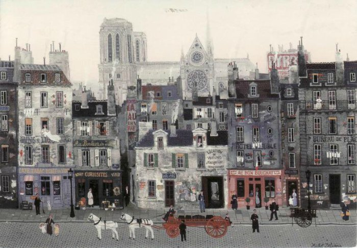 Старый Париж.  Автор: Michel Delacroix.