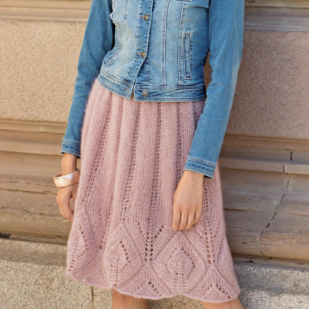 Романтичная юбка с ажурным узором