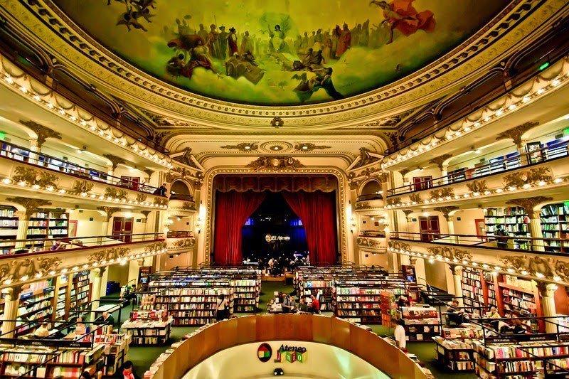 Один из крупнейших в Латинской Америке книжных магазинов под названием El Ateneo Grand Splendid