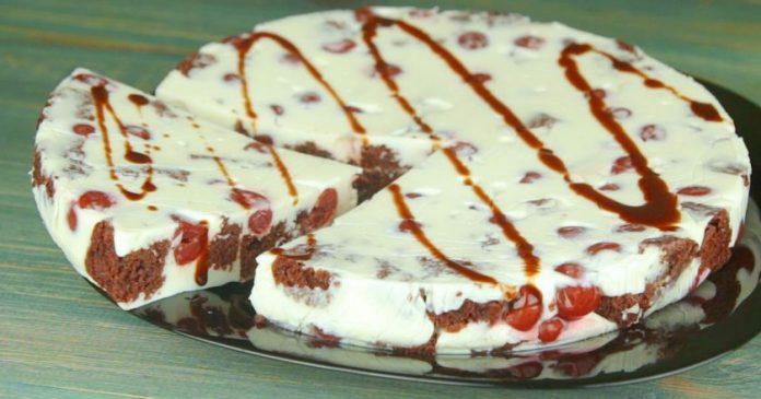 Вкуснейший десерт. Беспроигрышное сочетание вишни и шоколадного бисквита!
