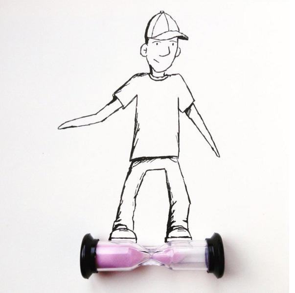 Креативные рисунки с предметами