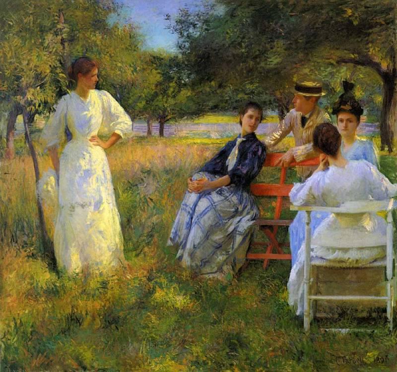 """""""Сквозь золотое сито..."""" Американский художник Edmund Charles Tarbell (1862 - 1938)"""