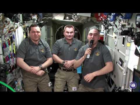 Российские космонавты на МКС поздравили олимпийскую команду страны