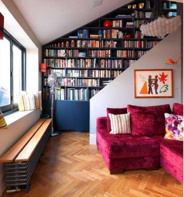Книжные шкафы и библиотеки для дома — 50 фото в интерьере