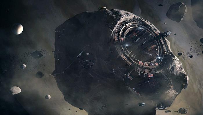 Расчеты показывают: космическая станция на астероиде с внутренними полостями вполне реальна