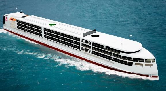 Российский круизный лайнер нового поколения готовят к спуску на воду