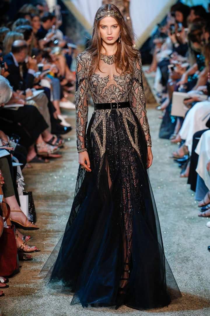 Haute Couture Elie Saab осень-зима 2017-2018. Часть 2