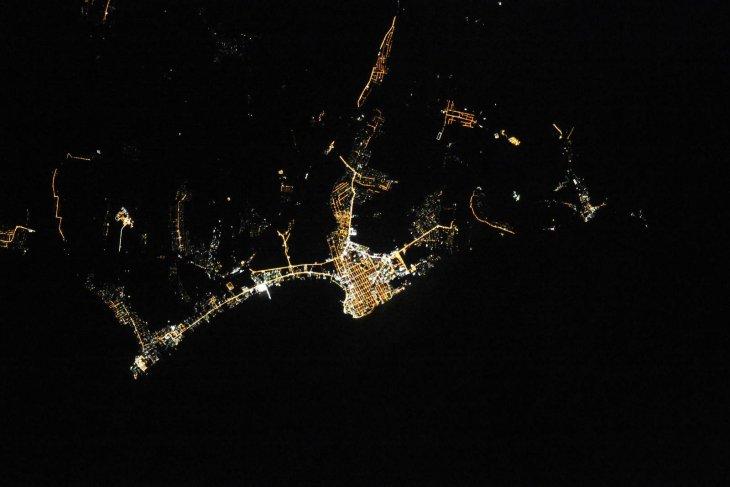 Ночные города России с борта МКС