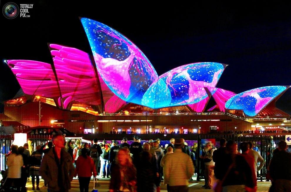 Фестиваль музыки и света в Австралии