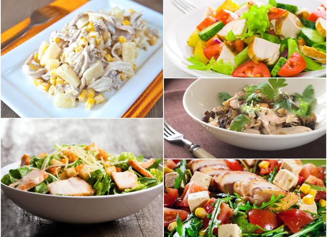 Салаты с курицей: ТОП-5 популярных рецептов