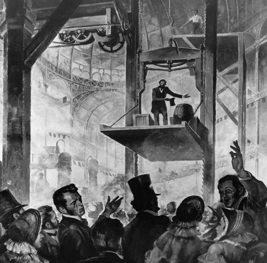 Отис, человек и лифт