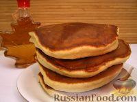 Фото приготовления рецепта: Хоткейки - американские оладьи на молоке - шаг №9