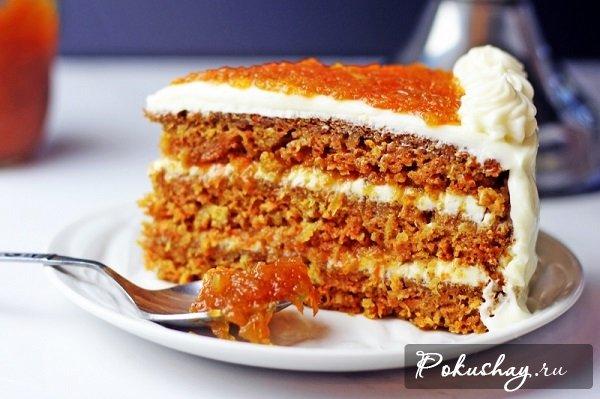 Оригинальный морковный торт