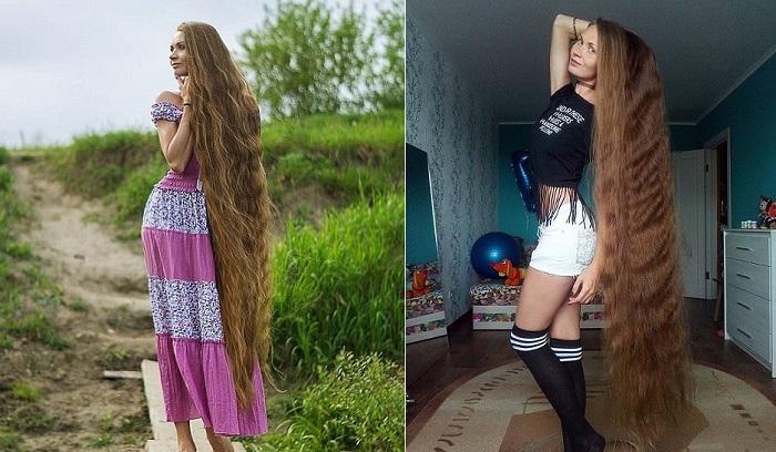 Российская Рапунцель: жительница Барнаула на спор отращивает волосы уже 14 лет
