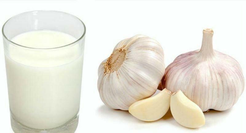 Перед употреблением капните чесночную настойку в небольшое количество молока