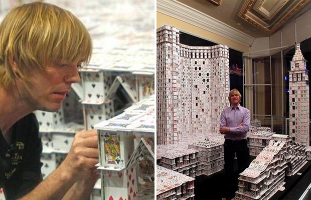 Это действительно самый большой карточный дом в мире