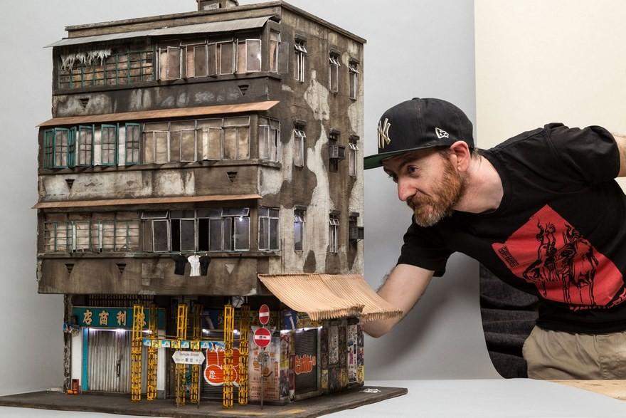 Невероятные дома из бумаги от австралийского художника