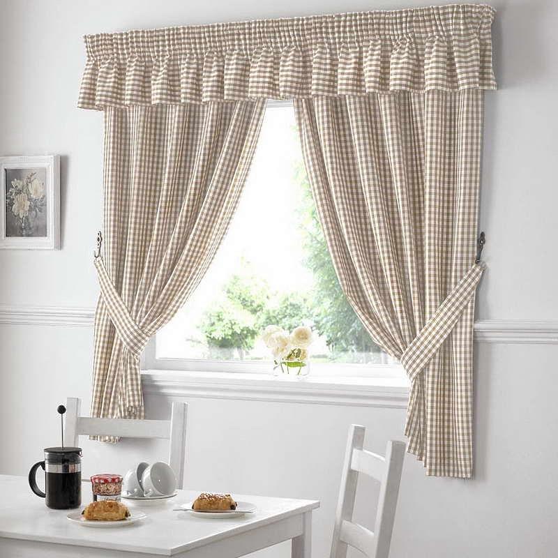 Как легко пошить льняные кухонные шторы своими руками
