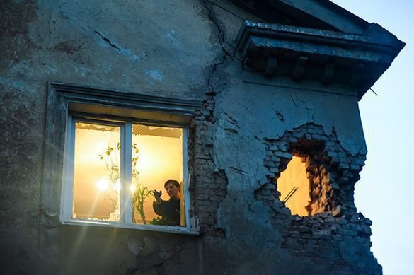 Про обстрел Авдеевки 16.02. от местных