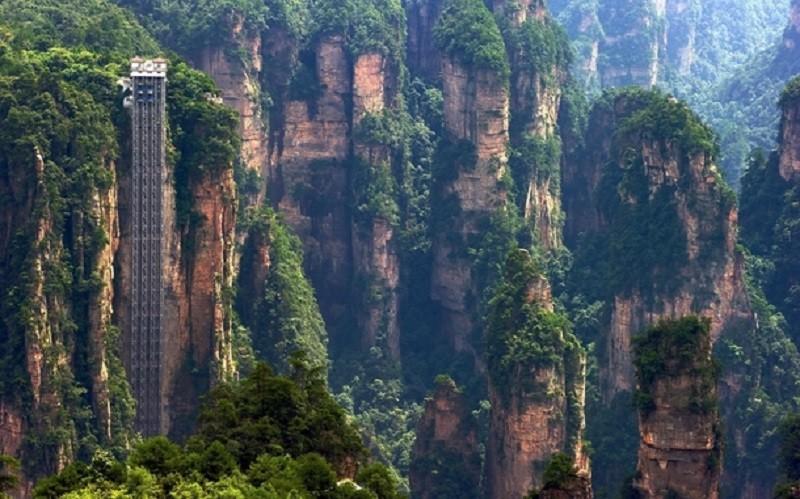 5. Байлонг, Китай история, лифт, мир, необычно, путешествия, факты