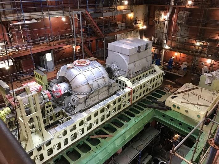 На ледокол «Арктика» установлена первая паротурбинная установка