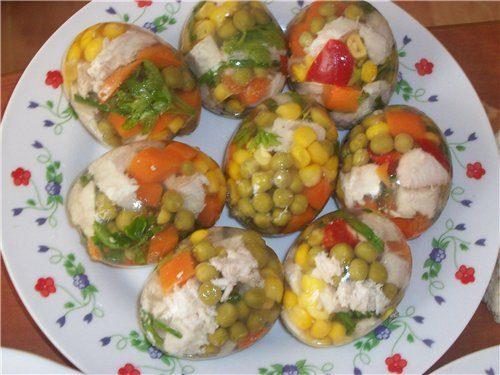 яйца желатином рецепт фото
