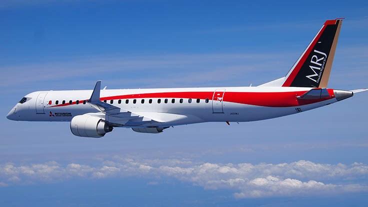 Японский самолет MRJ вновь отправился вСША натестовые полеты