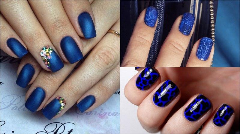Маникюр всех оттенков синего. Этот цвет завораживает!